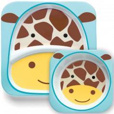 Ensemble assiette et bol Zoo Girafe