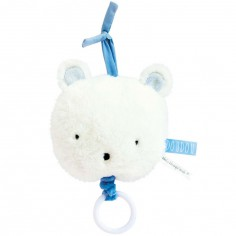 Peluche musicale ours Aussi doux