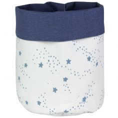 Panier de toilette Etoiles bleu (20 x 25 cm)