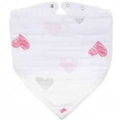 Bavoir bandana Lovebird sketchy heart