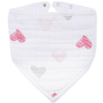 Bavoir bandana Lovebird sketchy heart   par aden + anais