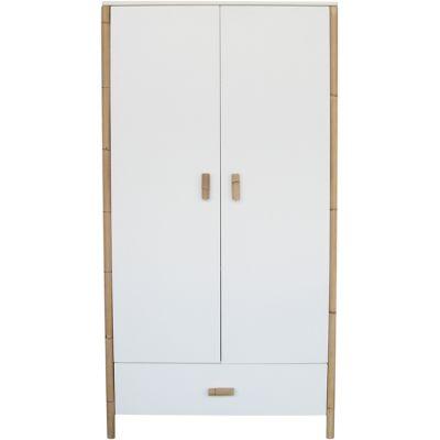 Armoire 2 portes + 1 tiroir Océane blanc neige  par Théo