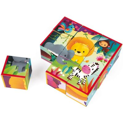 Puzzle cube Kubkid Jungle (9 cubes) Janod