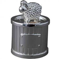 Boîte à dent Mouton personnalisable (métal argenté)