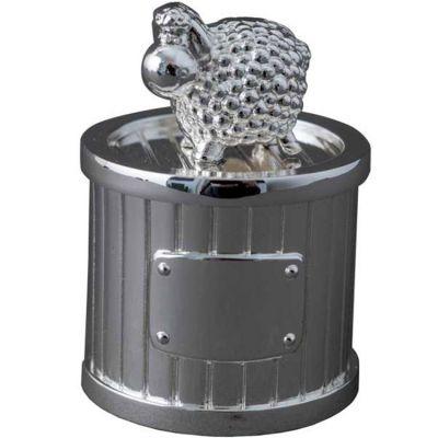Boîte à dent Mouton personnalisable (métal argenté)  par Daniel Crégut