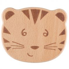 Hochet grelot en bois Tigre Safari