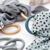 Lot 10 anneaux de suspension gris  par Done by Deer