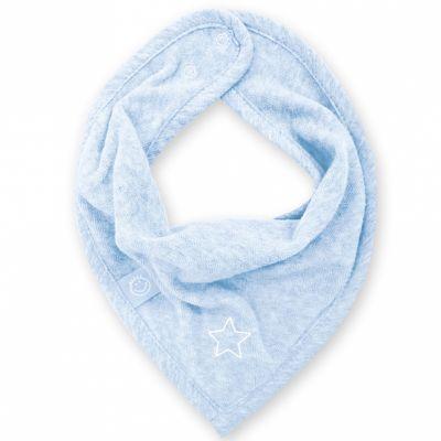 Bavoir bandana Stary bleu frost à points (25 cm)  par Bemini