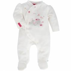 Pyjama chaud Anna et Pili blanc (1 mois : 56 cm)