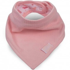 Bavoir bandana Tiny waffle rose poudré