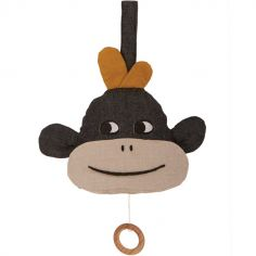 Coussin musical à suspendre singe