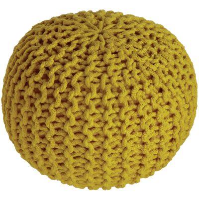 Pouf enfant tricoté Lili jaune oeuf (30 x 20 cm)  par Nattiot