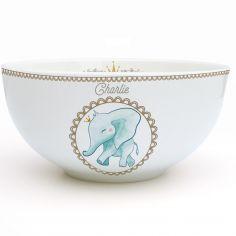 Bol en porcelaine Éléphant (personnalisable)