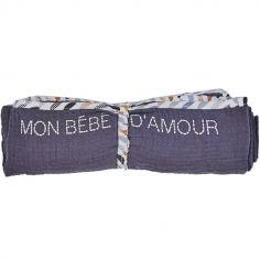 Lange en coton Mon bébé d'amour Honeymoon (70 x 70 cm)