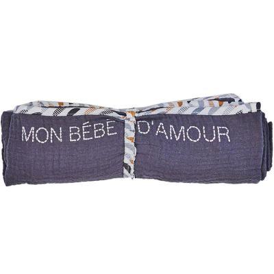 Lange en coton Mon bébé d'amour Honeymoon (70 x 70 cm)  par BB & Co