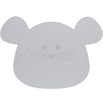 Set de table en silicone souris gris Little Chums  par Lässig