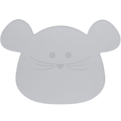 Set de table en silicone souris gris Little Chums  par Lässig