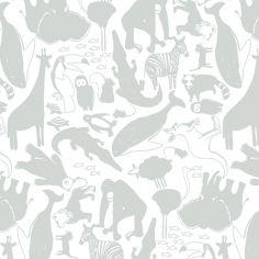 Papier peint intissé Animaux Gris de Zina Larichi (10 m)