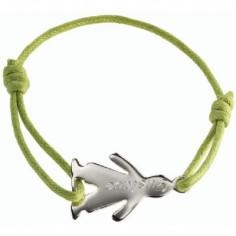 Bracelet cordon Mini bambin garçon (argent 925°)