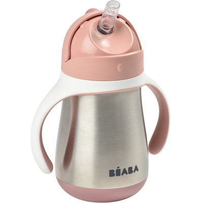 Gourde à paille en inox Old pink (250 ml)  par Béaba