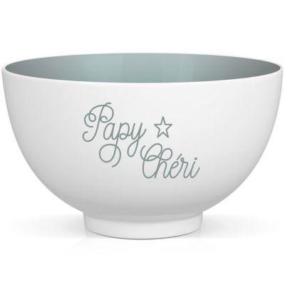 Bol en porcelaine Papy Chéri  par Créa Bisontine