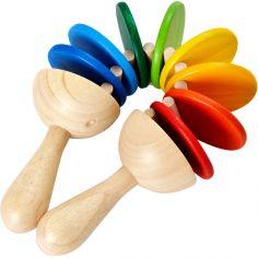 Claquette en bois multicolore