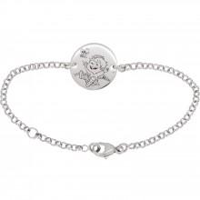 Bracelet Blagueur 13,5 cm (or blanc 750°)  par La Fée Galipette