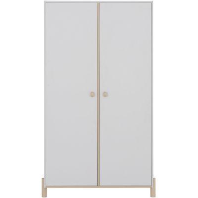 Armoire 2 portes gris clair sablé Eliott  par Galipette