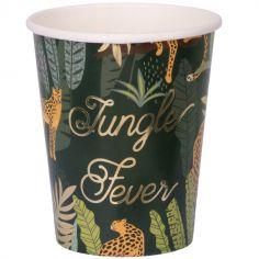 Lot de 8 gobelets en carton Jungle Fever