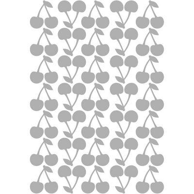 Stickers cerises argent (29,7 x 42 cm)