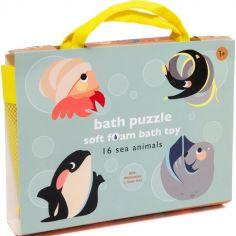 Puzzle de bain animaux marins (16 pièces)