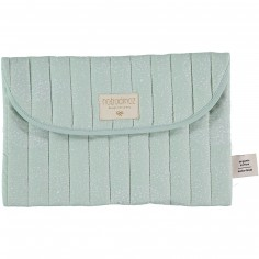 Pochette de change Bagatelle vert d'eau White bubble