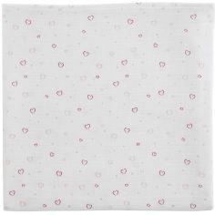 Maxi lange imprimée Coeurs rose (120 x 120 cm)