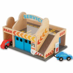 Station-service avec garage