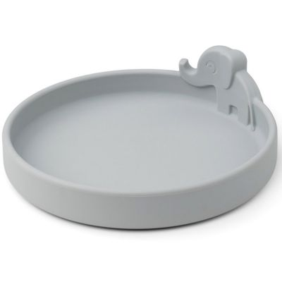 Assiette en silicone Elphee grise Peekaboo  par Done by Deer
