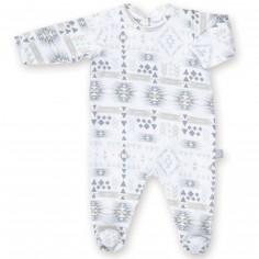 Pyjama léger jersey Apawi plum (3-6 mois : 60 à 67 cm)