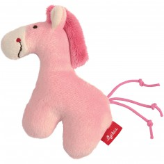 Hochet peluche cheval rose Red Stars