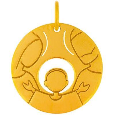 Médaille Sainte Famille (or jaune 18 carats)  par Maison La Couronne