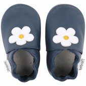 Chaussons en cuir Soft soles bleu marine Mary Quant (15-21 mois) - Bobux