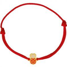 Bracelet cordon Ananas (or jaune 375°)