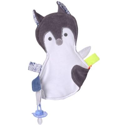 Doudou étiquettes Renard bleu  par Kikadu