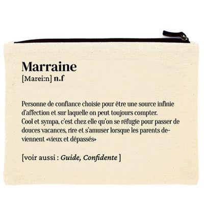Pochette en coton bio Marraine  par Hindbag