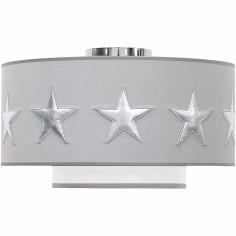 Abat-jour gris Stars silver (diamètre 35 cm)