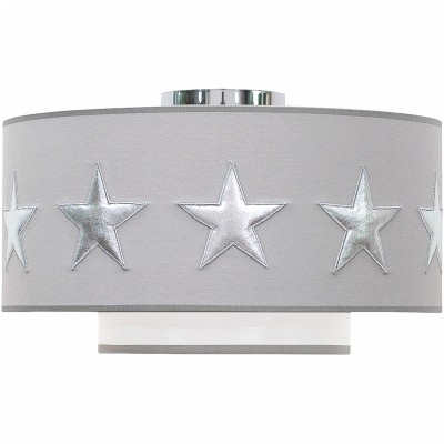 Abat-jour gris Stars silver (diamètre 35 cm)  par Taftan