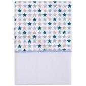 Drap de berceau Mixed stars mint (70 x 100 cm) - Little Dutch