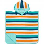 Poncho de plage Splash & Fun rayures bleus (12-36 mois) - Lässig