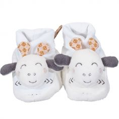Chaussons peluches Kenza (0-6 mois)