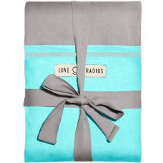 Echarpe de portage L'Originale gris clair poche turquoise