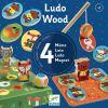 Set jeu de société LudoWood 4 en 1  par Djeco