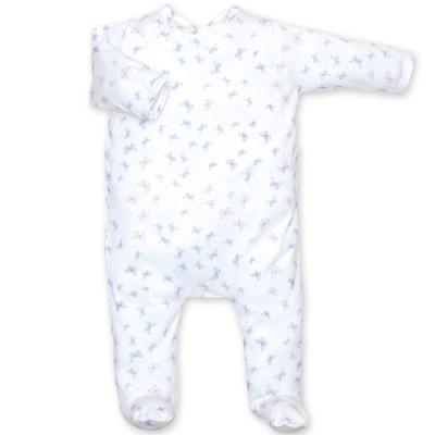 Pyjama léger jersey Lovmi parme jasmin (0-3 mois : 50 à 60 cm)  par Bemini